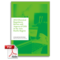 2014 Chemical Regulatory Review and Aspects of GHS in the Asia Pacific Region