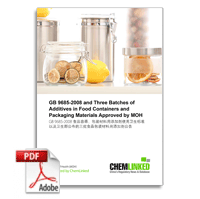 GB 9685-2008 + MOH Newly Approved Food Contact Additives in China
