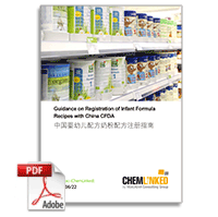 Guidance on Registration of Infant Formula Recipes with China CFDA