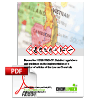 Vietnam: Decree No.113/2017/ND-CP Detailed regulations and guidance on the implementation of a number of articles of the Law on Chemicals