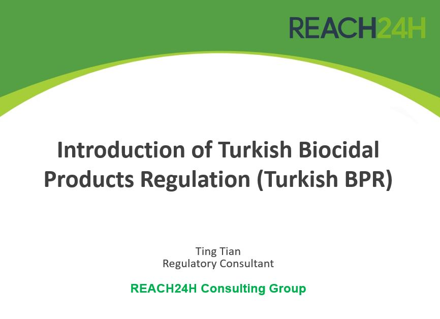 Introduction of Turkish Biocidal Products Regulation (Turkish BPR)