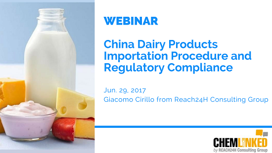 China Dairy Products Importation Procedure and Regulatory Compliance
