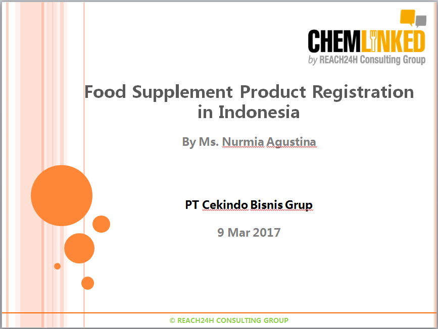 Food Supplement Product Registration in Indonesia