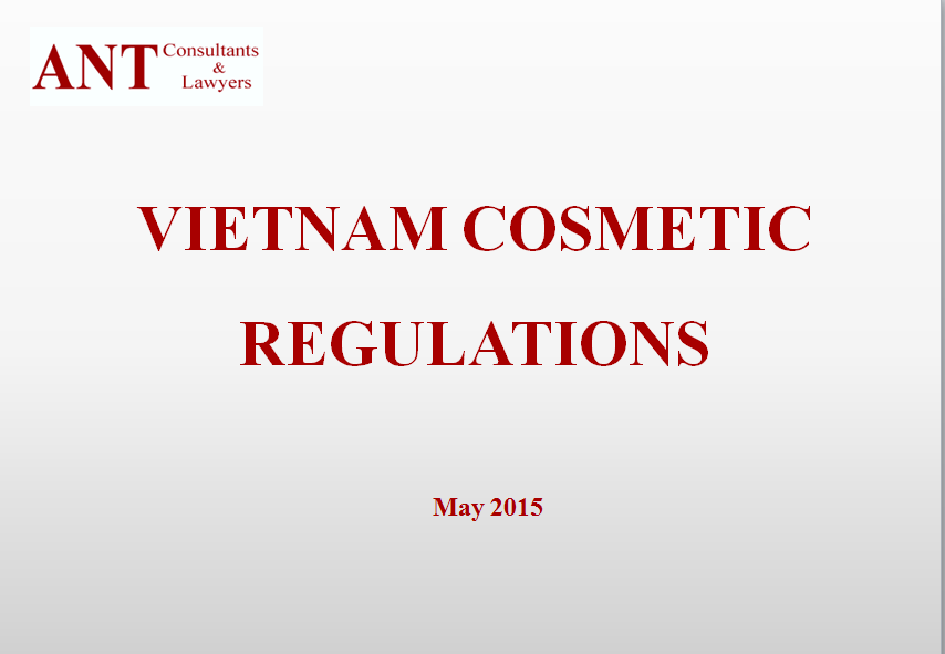 Vietnam Cosmetics Regulation