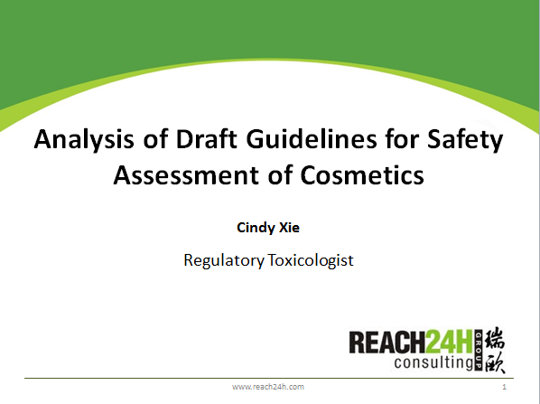 Analysis of Draft Guidance for Safety Risk Assessment of Cosmetics
