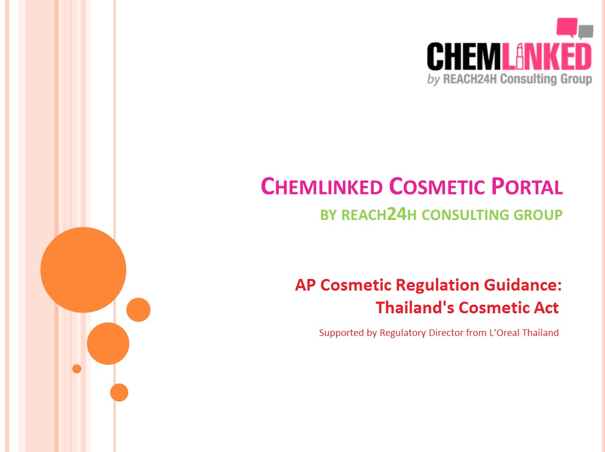 AP Cosmetic Regulation Guidance: Thailand's Cosmetic Act