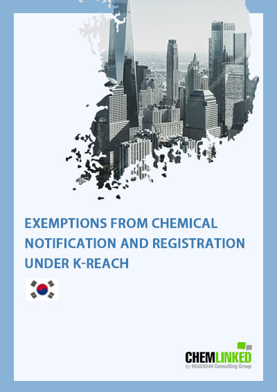 Exemptions from Chemical Notification and Registration under K-REACH