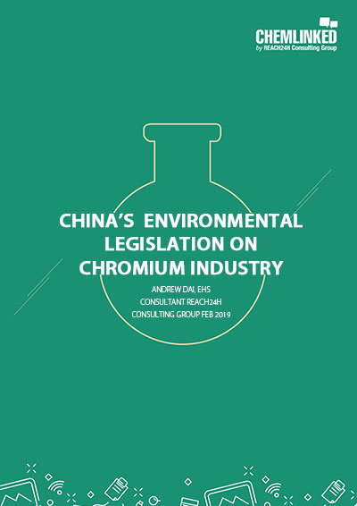 China's Environmental Legislation on Chromium Industry