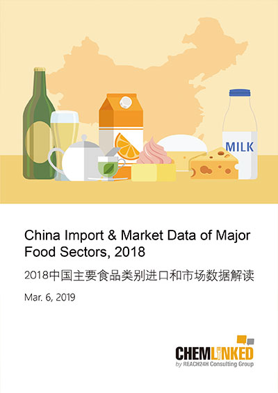 China Import & Market Data of Major Food Sectors 2018
