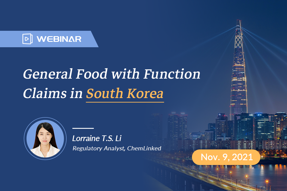 General Food with Function Claims in South Korea