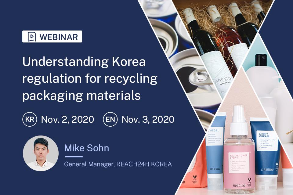 Understanding Korean Regulation for Recycling Packaging Materials